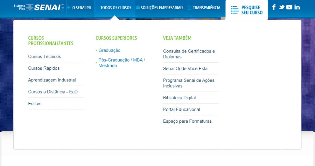 Inscrição senai Paraná