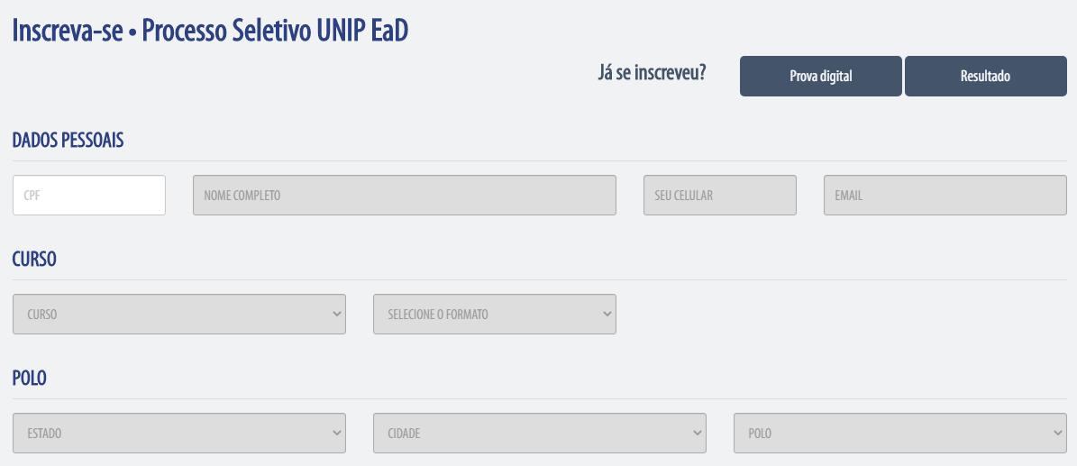 Inscrição Unip Como Funciona