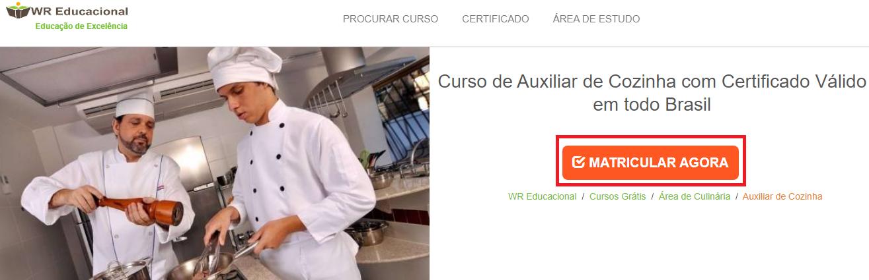 Curso de auxiliar de cozinha: melhores escolas